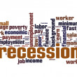Recession word cloud — Stock Photo #47128221