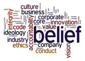 Belief word cloud — Stock Photo