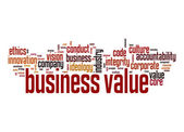 Business value word cloud — Stock Photo