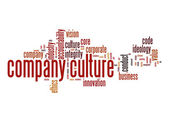 Company culture word cloud — Stock Photo