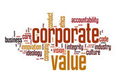 Corporate value word cloud — Stock Photo