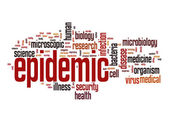 Epidemic word cloud — Stock Photo