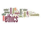Ethics word cloud — Stock Photo