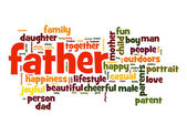 Nuvem de palavra de pai — Fotografia Stock