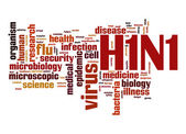 H1N1 word cloud — Stock Photo