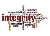 Integrity word cloud — Stock Photo