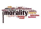 Morality word cloud — Stock Photo