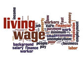 Living wage  word cloud — Stock Photo