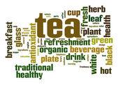 Nuvem de palavra de chá — Fotografia Stock
