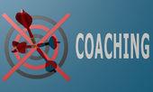 Dart board blue coaching — Stock Photo