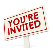 You re invited white banner — Stock Photo