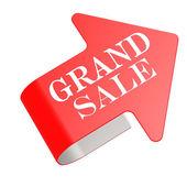 Grand sale twist label — Stock Photo