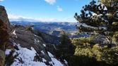 Winter view of Rocky mountain  — Stock Photo