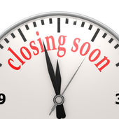 Closing soon clock — Stock Photo
