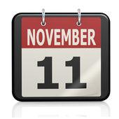 November 11, Veterans Day calendar — Stock Photo