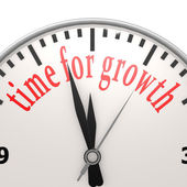 Time for growth clock — Stock Photo