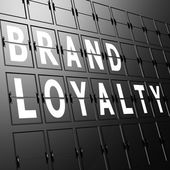 Airport display brand Loyalty — Stock Photo
