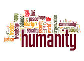 Humanity word cloud — Stock Photo
