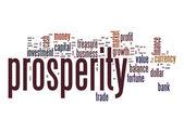 Prosperity word cloud — Stock Photo