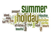 Summer holiday word cloud — Stock Photo