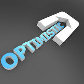 Optimistic arrow — Stock Photo