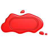 Oblong red seal — Stock Photo