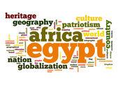 Ägypten-Wort-Wolke — Stockfoto