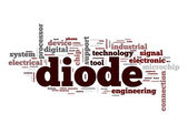 Diode word cloud — 图库照片