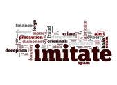 Imitate word cloud — Stock Photo