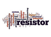 Resistor word cloud — Stock Photo