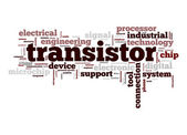 Transistor word cloud — Stock Photo