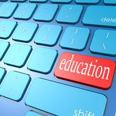 Education keyboard — Stock Photo