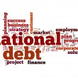 National debt word cloud — Stock Photo
