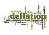 Deflation word cloud — Stock Photo
