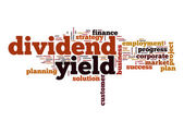 Dividend yield word cloud — Stock Photo