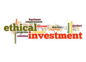 Ethical investment word cloud — Stock Photo