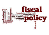 Fiscal policy word cloud — Stock Photo