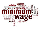 Minimum wage word cloud — Stock Photo