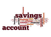 Savings account word cloud — Stock Photo