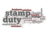 Stamp duty word cloud — Stock Photo