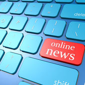 Online news keyboard — Stock Photo