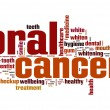 Oral cancer word cloud — 图库照片