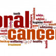 Oral cancer word cloud — Zdjęcie stockowe