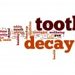 Tooth decay word cloud — Stockfoto