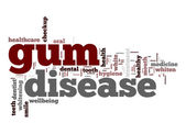Gum disease word cloud — Stock Photo