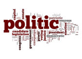 Politic word cloud — Stock Photo