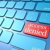 Acceso denegado teclado — Foto de Stock