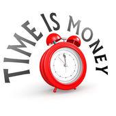 Alarm clock with time is money — Foto de Stock