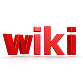 Red wiki word — Stock Photo