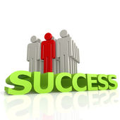 Success with puppet — Stock Photo